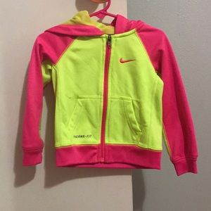 Pink and yellow jacket